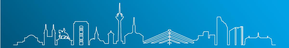 Stilisierte Skyline von Düsseldorf